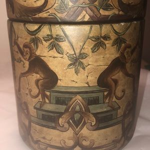 Monkey vintage looks ceramic container